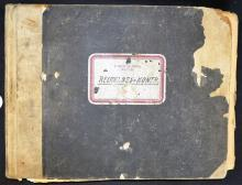 WWII Large SS ledger the title to front cover ?Aup