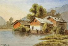 Adolf Hitler attributed watercolour date 1911 depi