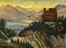 Adolf Hitler attributed watercolour drawing dated