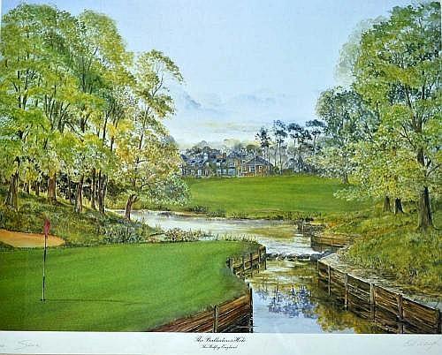 Sporting Memorabilia - Golfing Artwork : Bill