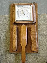 An Oak Aneroid Barometer. Shortland Smiths. Fitted