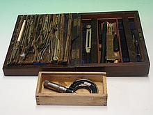 Cased Technical Drawing Instruments with a microme
