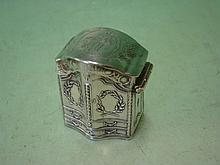 Dutch Silver ? A small box in the form of an armoi