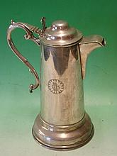 Silver Plated Coffee Pot of plain cylinder form. E