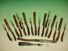 Collection of Georgian Cutlery with antler handles