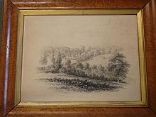 W Cowan. Pitchford Hall nr. Shrewsbury. Signed and