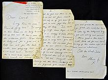 Music/Entertainment Hand written letter from Alvin