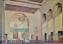 Artists Impression 1946 The Church Speke hand draw