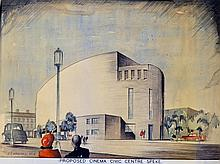 Artists Impressions 1946 Proposed Cinema and Civic