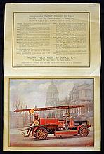 Hatfield Automobile Fire Engine Publicity Catalogu