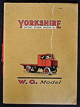 Yorkshire Patent Steam Wagon Co Catalogue c1920s O