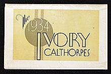 1934 Calthorpe Motorcycles Birmingham Sales Catalo