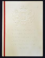 1953 Royal Luncheon To Her Majesty The Queen II Gu
