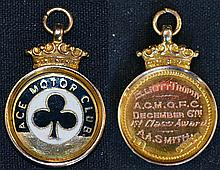 9 Carat Gold Ace Motor Club Medallion/Fob in gold