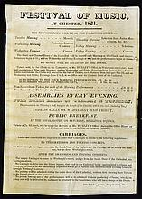 1821 Music Festival Poster at Chester Advertising