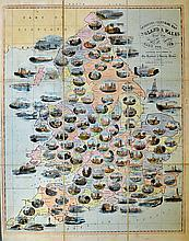 1844 Spooner?s Pictorial Map of the Cities and Tow