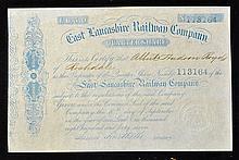 1847 East Lancashire Railway Company Certificate f