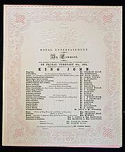 1852 Royal Entertainment at Windsor Castle of Shak