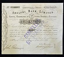 1863 Adelphi Bank Limited^ Liverpool Certificate f