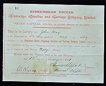 1891 Birkenhead United Tramways^ Omnibus and Carri