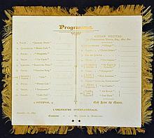 1893 Blenheim Palace Music concert programme dated