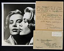 1977 Signed Princess Grace of Monaco hand written
