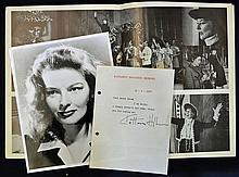 1977 Signed Katharine Houghton Hepburn printed let