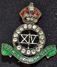 15th Royal Ludhiana Sikh silver and enamel militar