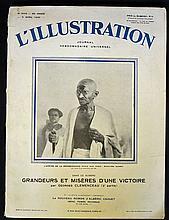1930 M K Gandhi ?L?Illustration? French Periodical