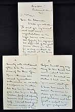 Hand Signed Richard Austen Butler (RAB) handwritte
