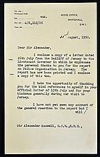 Hand Signed Assistant Secretary J H Walker typewri