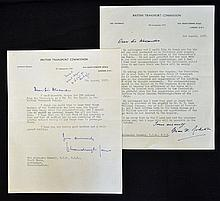 Hand Signed British Transport Commission typewritt