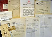 Interesting Archive for the Property of Sir Alexan