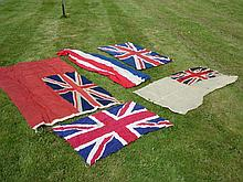 Five Flags Viz. four union flags and a French tric