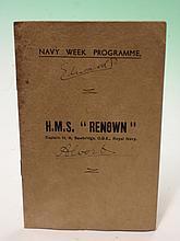 Royal Memorabilia. A Navy Week programme for H.M.S