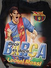 Lionel Messi. An F.C. Barcelona official black kit