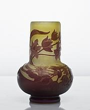 Signed Galle French Cameo Art Glass Vase