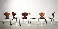 Set of 6 Early Arne Jacobsen Teak Ant Chairs