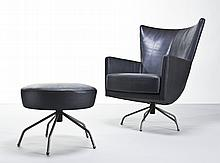 Danish Modern Style Lounge Chair & Ottoman