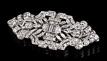 Art Deco 5.4 Carat Diamond & Platinum Clip Brooch
