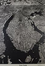 Large 1993 Krikko Manhattan New York City Print