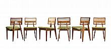 George Nelson Set of 6 Cane Back Dining Chairs