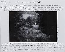 Michals, Duane (American, 1932-) Signed Photograph edition 2/25 - There Is No China -