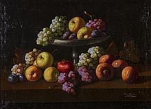 Manuel V. Millan (Spanish 1923-1984) Fruit Oil Painting