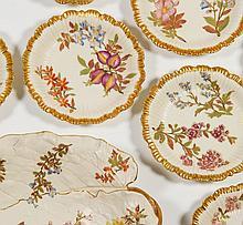 Royal Worcester 13Pcs Porcelain Handpainted Dessert Set