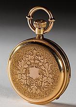 Fine Sontag Geneve 18K Gold Hunter Case Pocket Watch