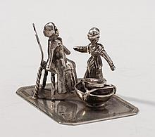 Continental .800 Coin Silver Miniature Figurines (4)