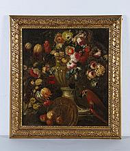 Early Continental 18C Floral Still Life Oil Painting