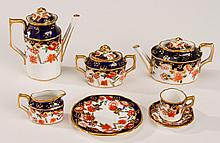 Royal Crown Derby Miniature Porcelain Imari Tea Set