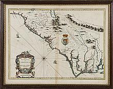 JOHN SPEED 1676 New Description of Carolina Old 17C Map